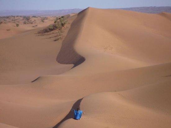 Randonnée en famille au coeur du désert marocain