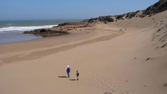 Côte atlantique maroc, Plage entre Tafedna et sidi Kaouki
